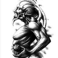 Koziorożec mężczyzna tatuaż