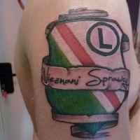 Legia logo tatuaż kibica