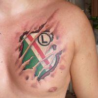 Legia Warszawa logo tatuaż