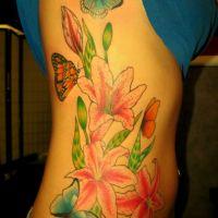 Lilie z motylami