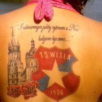 Logo Wisła Kraków tatuaż