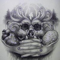 Maska na twarz i dłonie wzór tatuażu