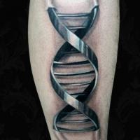 Metalowa spirala tatuaż biomechanika