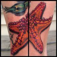 Morska rozgwiazda tatuaż