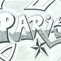 Napis Paris tatuaż