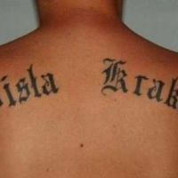 Napis tatuaż Wisła Kraków