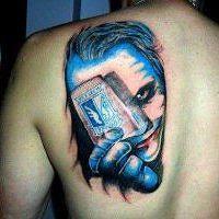 Niebieski tatuaż Lech Poznań