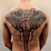 Głowa słonia tatuaż