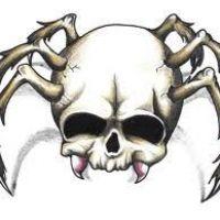 Pająk z czaszki wzór tatuażu