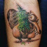 Postać z bajki tatuaż
