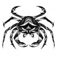Rak tatuaż ze znakiem zodiaku