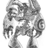 Robot mutant z numerem 6