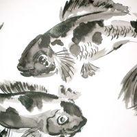 Ryby zodiak tatuaż wzór