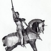 Rycerz na koniu tatuaż wzór