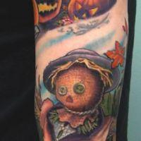 Strach na wróble dynie tatuaż