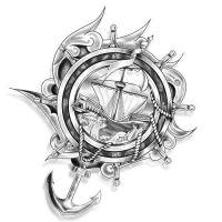 Symbole marynarskie tatuaż wzór