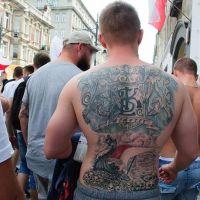 ŁKS ŁÓDŹ tatuaż dziara