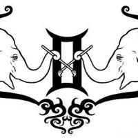 Tatuaż bliźnięta znak zodiaku