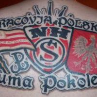 Tatuaż Cracovia Kraków kibice