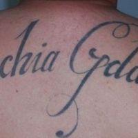 Tatuaż dla kibica napis