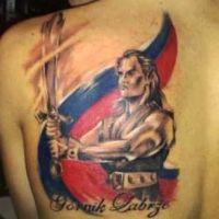 Tatuaż Górnik Zabrze