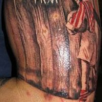 Tatuaż kibica Cracovia Kraków