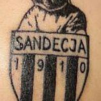 Tatuaż kibica Sandecja