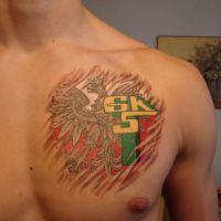 Tatuaż klubu Górnik Łęczna