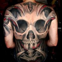 Tatuaż Plecy Czaszka