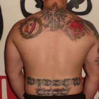 Tatuaż Widzew Łódź napisy