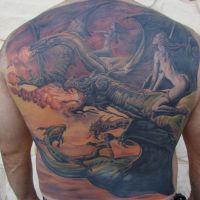 Tatuaż ze smokami