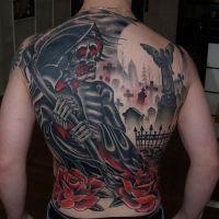 Tatuaż z kostuchą