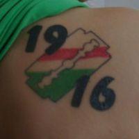 Tatuaż żyletka Legia Warszawa