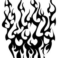 Tribal czarny ogień wzór