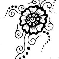 Tribal kwiatek tatuaż wzór
