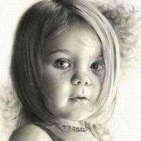 Twarz dziecka wzór tatuażu