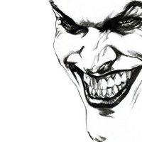 Uśmiech jokera wzór tatuażu