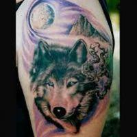 Wilk haski tatuaż