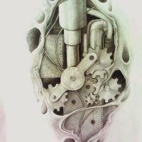 Wzór na tatuaż biomechanika
