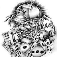 Wzór tatuażu gry i karty