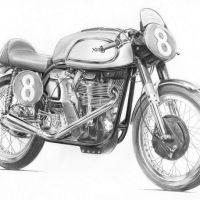 Wzór tatuażu motor