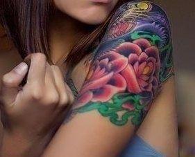 Dwa lotosy tatuaż