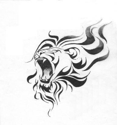 Wzór Na Tatuaż Z Lwem