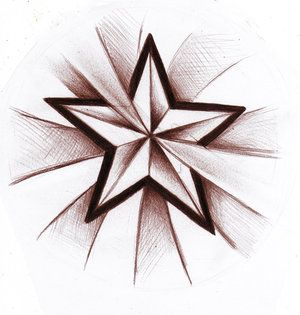 Wzór tatuażu gwiazda