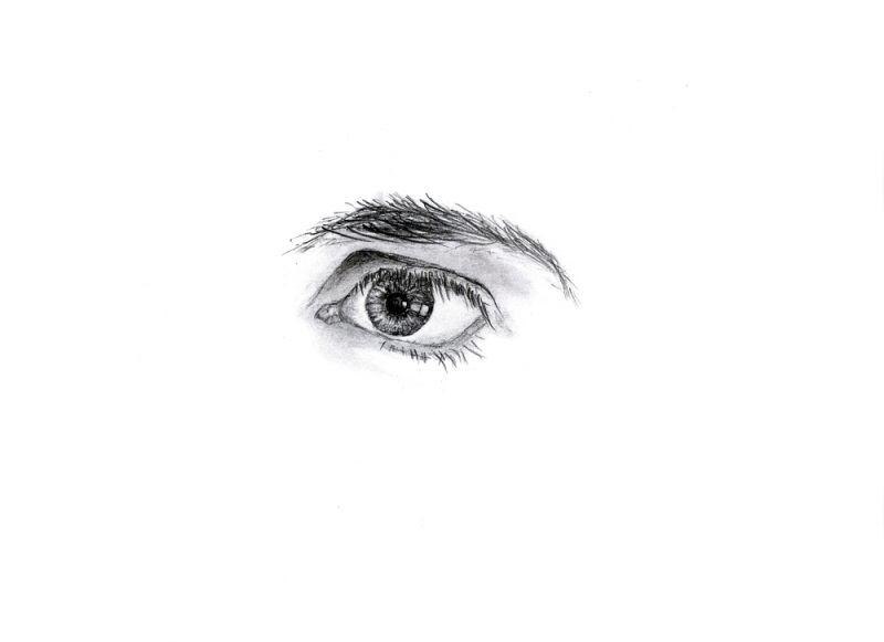 Wzór tatuażu oko i brew