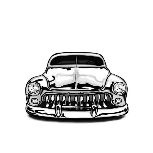 Wzór ze starym samochodem