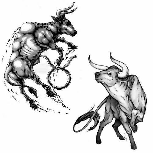 Znak Zodiaku Byk Tatuaż