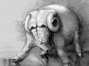Znak zodiaku wzór tatuażu baran