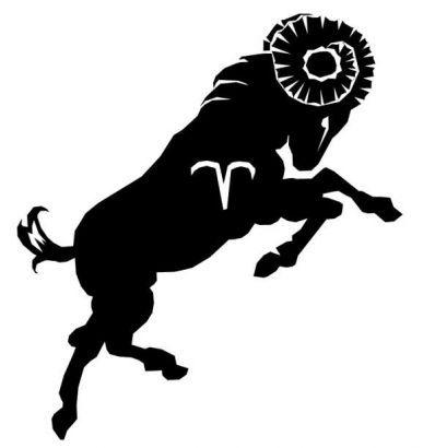 Zodiakalny baran wzór tatuażu