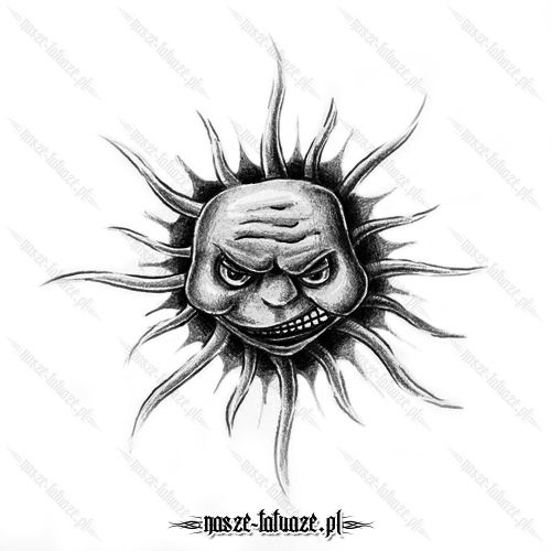 Czarne słońce z twarzą